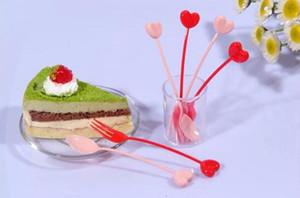 200pcs / lot favor de la boda desechable plástico de la torta Tenedor Tenedor Fuirt paquete individual con alta y durable quakity