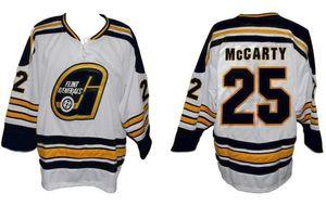 Darren McCarty # 25 Flint Generals IHL 2007-08 Retro Hockey su ghiaccio Jersey uomo cucito su misura Numero Nome maglie