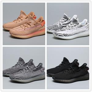 V2S 2019 Stat Kanye West 2019 Top Quality Running Shoes Butter Sesame Zebra creme branco preto produzido Laranja Cinza Sneakers EUR36-47