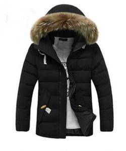 Chaud Manteau de fourrure à capuchon épais hiver hommes Designer Down Jacket de Luxe Homme Chaquetas Pardessus Homme Outwear parka