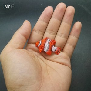 Kid Gift Orange Tropical Fish PVC Model Toy Novelty Gag Toys Gags Accessories Science Educational Model Toy
