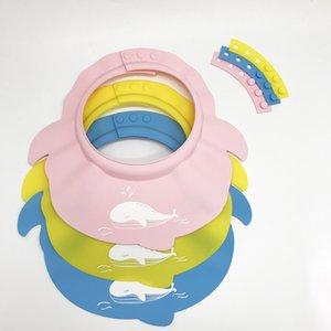 1pc Baby Shampoo protezione del bambino del silicone doccia protezioni dei bambini Doccia Doccia Bagno scherza la protezione in silicone regolabile SH190919 cuffia da bagno