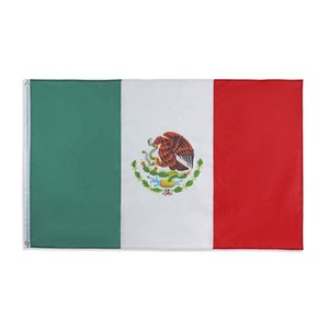 bandera mexicana 3x5FT 150x90cm poliéster impresión de la bandera nacional de deportes al aire libre cubierta de bronce ojales envío