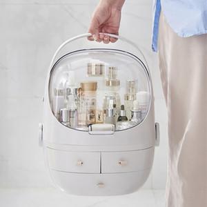 7 월 SONG 플라스틱 메이크업 스토리지 박스 휴대용 화장품 주최자 대형 메이크업 컨테이너 욕실 보관 케이스 데스크탑 잡다한 T200320