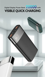 Energien-Bank-20000mAh USB Typ C PD Lade Schnell + Quick Charge 3.0 Powerbank 20000 mAh Externe Batterie für iPhone Xiaomi