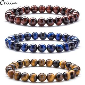 Lava Pedra Difusor Yoga Bead pulseira ajustável Homens Pulseiras trançado pulseiras cura Balance For Men Mulheres