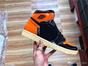 2020 Выпуск 1 High OG Разрушенного Backboard 3,0 Кроссовки 1S мужская Аутентичная обувь качества баскетбола натуральной кожи с О. Box 555088-028