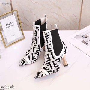 19SS 2019 botas de las mujeres del invierno Bare los tacones altos zapatos de vestir punta estrecha Botas Negro Rojo Botas Mujer finas bombas de los tacones zapatos de la mujer