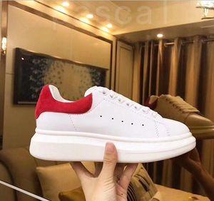 2020 sapatos de alta qualidade couro genuíno Sneaker Mens Mulheres Moda couro branco Plataforma Flat Shoes Casual Shoes