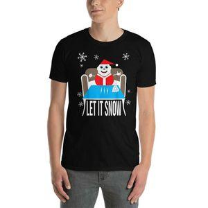 Funny Santa Let It Snow Christmas Unisex 2019 Summer O Neck Men's Brand Clothing Cotton Make T Shirts