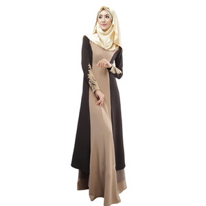 muslim dresses 2019 Vintage Women Abaya Long Maxi Dress Arab Jilbab Muslim Robe Dress Women Dubai Abaya Design Women's Clothing