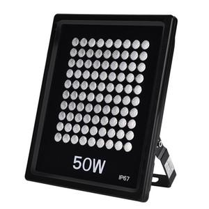 Açık Led Spotlight Siyah 50W Dikdörtgen Taşkın Işık Usa Stok 110V Sıcak Beyaz Yüksek Kalite Su geçirmez Led Işık Soğuk