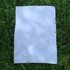 100% Polyester Linen Plain White Tea Towel Soft Blank Kitchen Dish Towel 50x70 CM for Sublimation