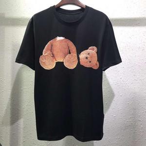 2019 Nuevo diseño de marca de moda Verano para hombre Camiseta para mujer Detrás de Beheaded oso de peluche Imprimir ropa de manga corta ocasional de los hombres camiseta