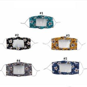 Lip Sprache Respirator Clear Window Visible Mundschutz Deaf Mute Waschbar Gesicht im Freien Cotton Schutz Maske DHE115
