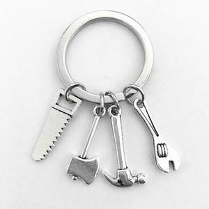 الفضة الازياء التبتية إذا لم داد يمكن إصلاحه المطرقة مفك رأى وجع الفأس - سحر مفتاح قلادة سلسلة حلقة DIY صالح سلسلة المفاتيح - 148