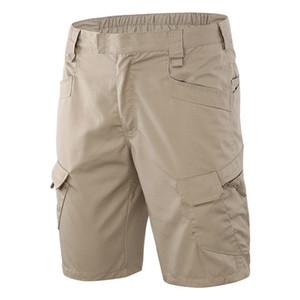 Verano de los hombres Deportes al aire libre Multi Pocket Tactics Pantalones cortos Hombre Escalada Equitación Entrenamiento del ejército Camo Tactical Cargo Shorts
