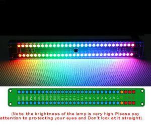 Freeshipping Dual 30 Colorido LED Panel de Indicador de Nivel de Audio VU Meter Music Spectrum W control remoto Para CAR Amplifer