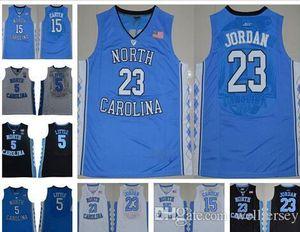 NCAA North Carolina Tar Heels # 23 Michael 5. Nassir Küçük 15 Carter 32 Luke Maye Berry Barnes UNC mavi Siyah Beyaz Forma