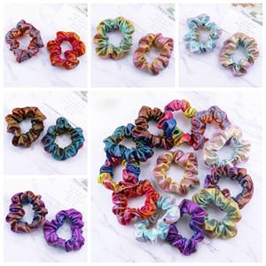 Nouveau mode Rainbow Colors Round Hairband Femmes Filles Double-couleur élastique Couvre-chef européen et américain Accessoires cheveux