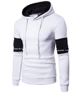 Sport Raglan Letter Hoodie Print Ship W26 Design Matching Men Black Sleeve White Pullover Color MS Hoody Free Hooded Patch Dcrmr