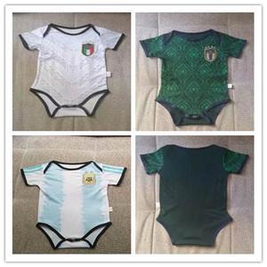 Jersey 19 20 verde scuro CHIELLINI camicia del bambino ootball 2019 ITALIA bambino calcio El Shaarawy BONUCCI INSIGNE Argentina