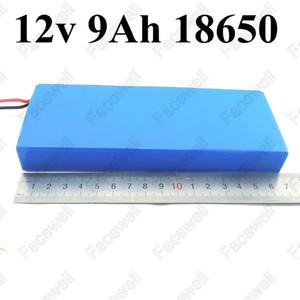 9ah 12v bateria de iões de lítio 12v 9ah lítio íon bateria 18650 9000mAh 12v bateria de luzes LED câmera wi-fi exigência de resgate