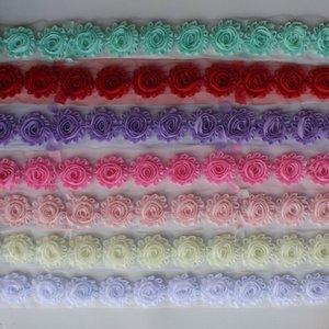 """30y 2.5"""" Chiffon- schäbige Blumen für Babyhaarzusätze, Chiffon ausgefranste Blume für Mädchen Kleidung Accessoires Haar Stirnband Haarspange"""