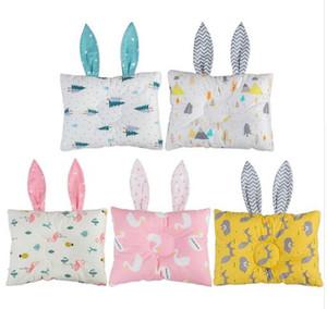 토끼 귀 아기 방 장식 7 색 코튼 아기 베개 소프트 신생아의 머리 보호 아동 간호 베개 소년 소녀 쿠션