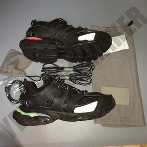 OG LED Track 3.0 Combinación Negro reflexivo París Triple S zapatillas de deporte de lujo diseñadores Deportes y transpirable para hombre zapatos de la mujer Casual