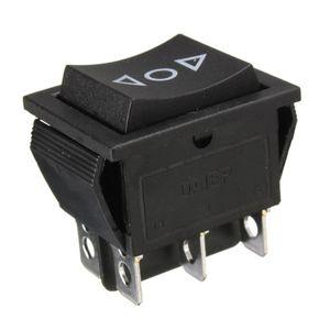12 Volt 6-Pin DPDT Power Window Momentary Rocker Switch AC 250V10A 125V15A