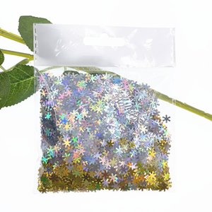 Colorful Snowflakes Confetti For Nail Art Accessories Glitter Tiny Tissue For Wedding Christmas Balloon Filling 20G