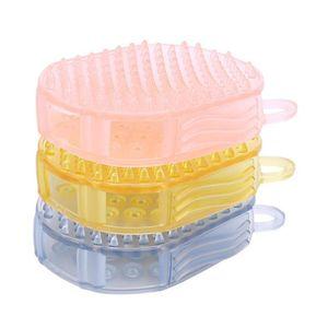 Doppelseitige meridian pinsel bad shampoo kopfhaut massage pinsel weichen silikon körper kopf haarmassage kamm gesundheitswesen f2771