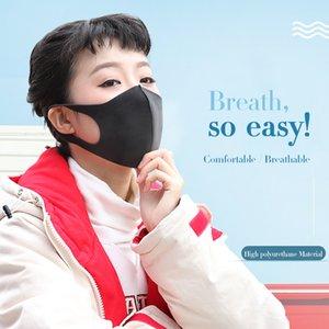Unisex Waterproof Mask Good Quality Smoke Proof Black Sponge Face Mask 3D Fashion Washable Face Mask