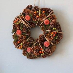 Navidad Grarland la guirnalda de la decoración del hogar de la boda Decoración de la guirnalda País otoño Invierno Año Nuevo Guirnalda Navidad