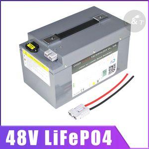 48V 20Ah Lifepo4 de 40AH batterie LiFePO4 avec BMS pour 1000w 3000w 4000w Scooter Vélo Voiturette énergie solaire + Chargeur