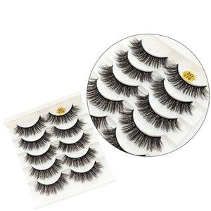 3D 6D Yanlış Eyelashes 43 Stiller Doğal Uzun crisscross Kirpikleri Uzantıları Makyaj Gözler için büyük Lashs 5 Çiftleri Yeni Stiller RRA2551