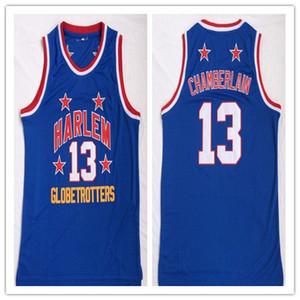 Özel yapılmış Harlem globetrotters Dikişli 13 Wilt Chamberlain adam kadın gençlik basketbol formalar boyut S-5XL herhangi bir isim numarası