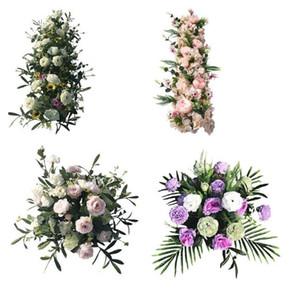 Oggetti di scena e fiori di nozze Fiore di seta nuziale Simulato Hydrangea Decorazione di scena fiore Fiore simulato di T-platform Road Guide