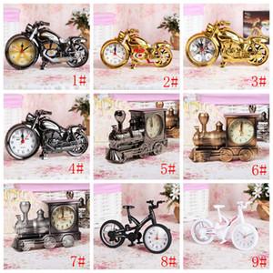 Motocicleta criativa Alarm Clock Arrefecer alarme da motocicleta Relógio Retro relógios de presente Moda Personalidade Início Placement Decoração VT0923