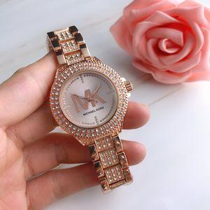 Moda Hot venda Mulheres relógio de luxo diamantes Lady Quartz Stell Strap completa olhos pequenos de cristal Relógio Masculino vestido elegante relógio Sexy DE