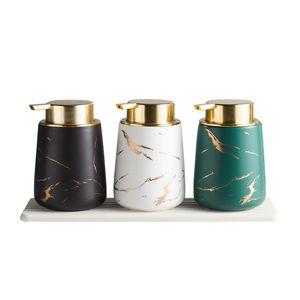 400ML Flüssigseifenspender aus Keramik Shampoo Hand Sanitizer Pumpflasche Küche Badezimmer Zubehör Outdoor-Spielraum-Flaschen