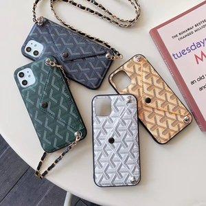 Stylish Design Phone Case Envelope Card Slot Holder Cover for IPhone 11 Pro 11Pro X XS MAX XR 8 8Plus 7 7plus 6 6s Plus Cross Body Chain