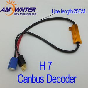Luzes do carro H7 Cambus 50W 6ohm carro LED fio Nevoeiro Vire carga Singal Lâmpada LED Resistência rápida Hiper flash 2PCS