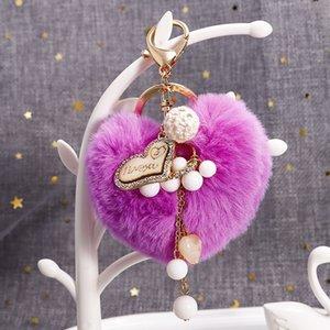 Hadas lindo diseñador de madera del corazón Amor colgante llavero lujo de la manera mejor amigo Piel bola llavero del coche del bolso regalos promocionales