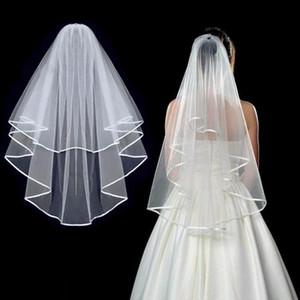 Simple court Tulle mariage Veils 2020 nouvelle à deux couches avec un peigne Blanc d'Ivoire Bridal Veil mariée mariage Accessoires de mariage