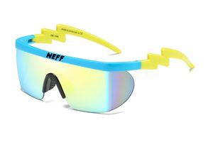 Großhandels-Neff-Sonnenbrille Herren-Marken-Entwerfer Frauen uv400 große Feld-Beschichtung Sun Glasses 2 Lens oculos de sol feminino Brillen Unisex