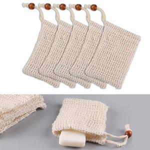 Soap storage bag natural exfoliator mesh scrub tool manual bubble net shower receive soap mesh bag shower supplies