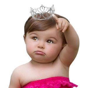 Newborn Photography Accessories Tiara 3.5*8cm Crystal Crown Baby Hair Accessories Costume Prop Infant headdress Toddler Headwear