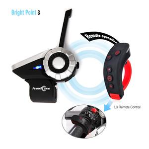 FreedConn T-Rex Motorcycle Grupo Bluetooth Intercom Helmet Headset 1500M 8 Riders sem fio Communicator com suporte FM + L3 Kit